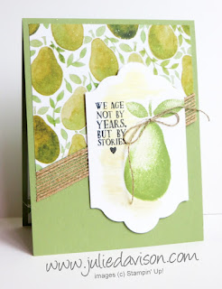 Stampin' Up! Fresh Fruit Card for Stamp of the Month Club (August 2016) with Julie Davison www.juliedavison.com/clubs