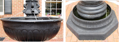 Closeup views of the Charlottesville fountain