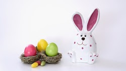 Easter Eggs and Easter Bunny 2017