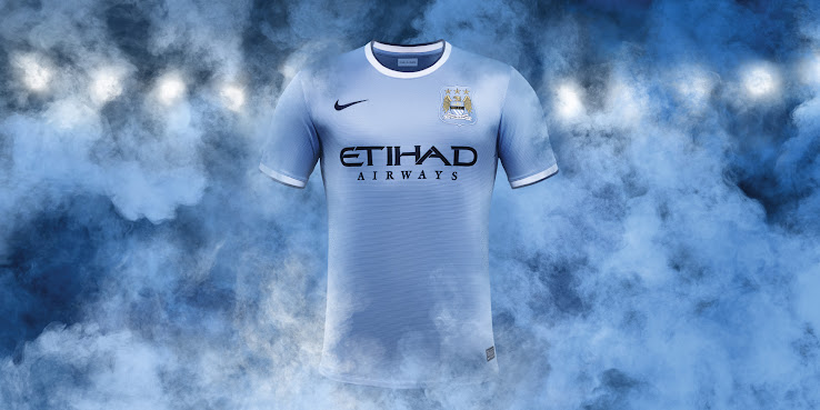 c666f0c68 The Manchester City 13-14 kits are produced by Nike after Umbro was sold.  The Manchester City 13-14 Shirts are sponsored by Etihad.