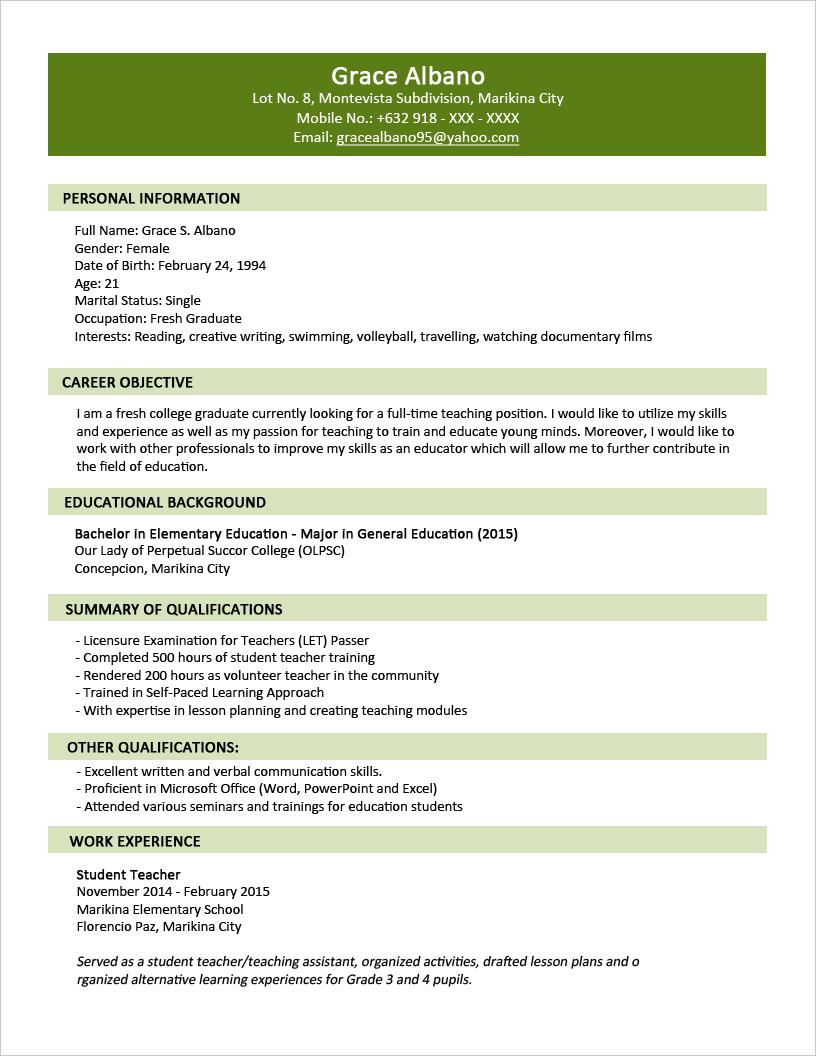 3 contoh resume dua halaman