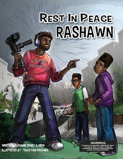 RIP RaShawn written by Ronnie Sidney, illustrated by Traci Van Wagoner, designed by Kurt Keller, ITD