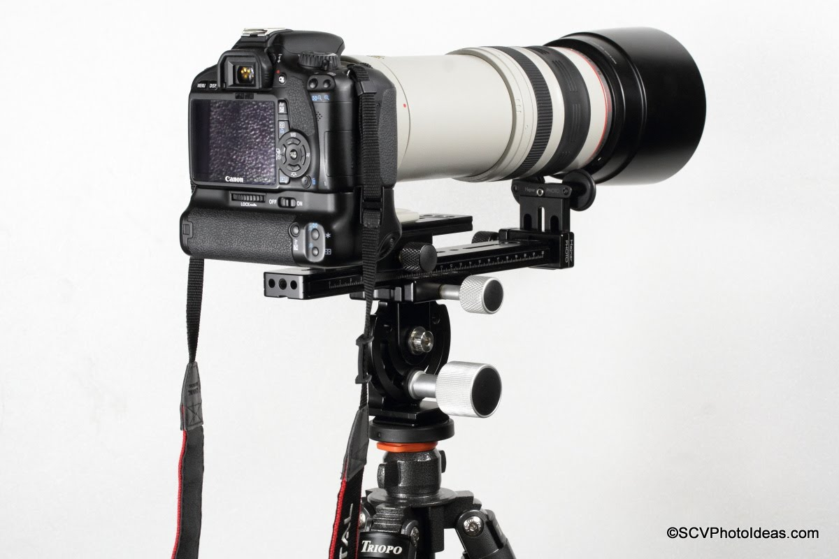 Canon EOS Camera w/ EF 100-400 L IS USM mounted on Hejnar PHOTO Modular LLSB MOD-1 assembly clamped on MHR-1 Head