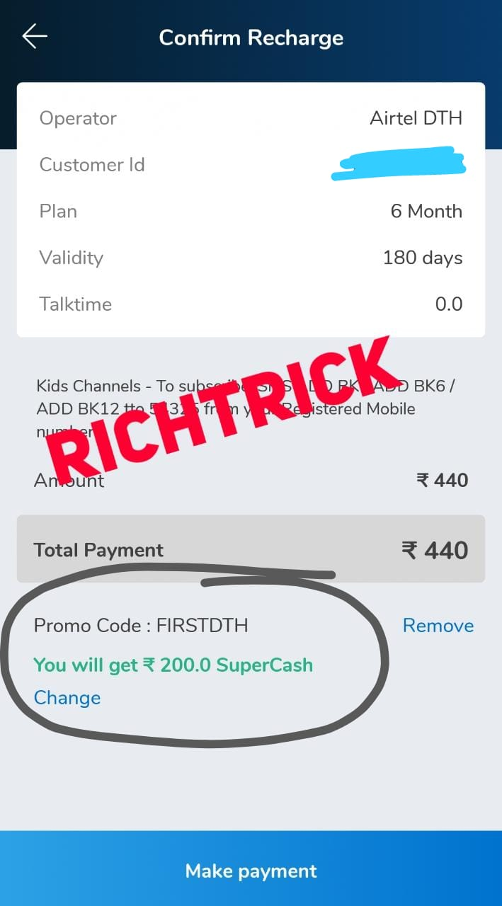 DTH offers _ Get RS 200 supercash on DTH recharge _ Mobikwik