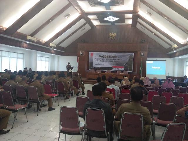 Dinas Pertanahan Aceh Utara Gelar Workshop Percepatan Reforma Agraria