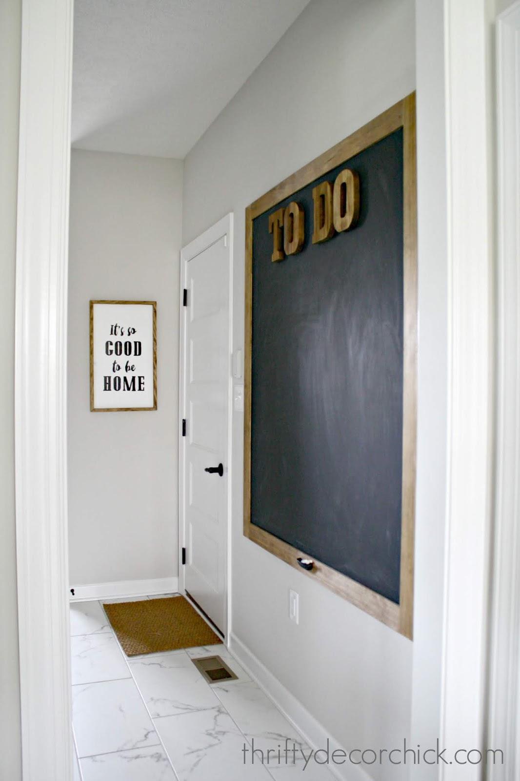 Large DIY chalkboard wall