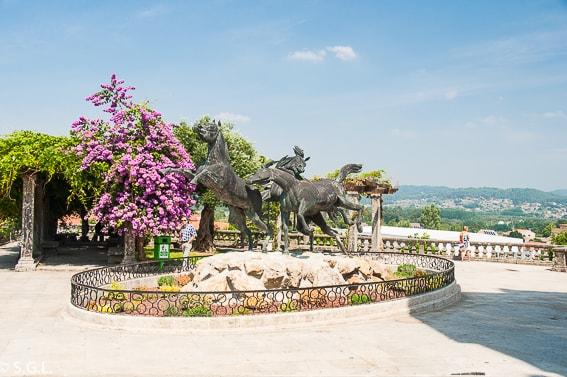 Estatua de los caballos de Tui. Pontevedra