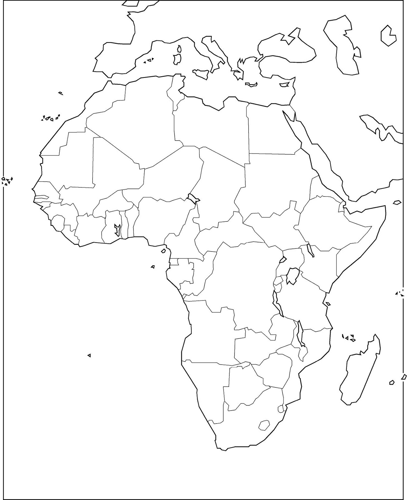 Mapa De Africa Vacio.Mapas De Africa Mapas Politicos Mapas En Blanco Mapas