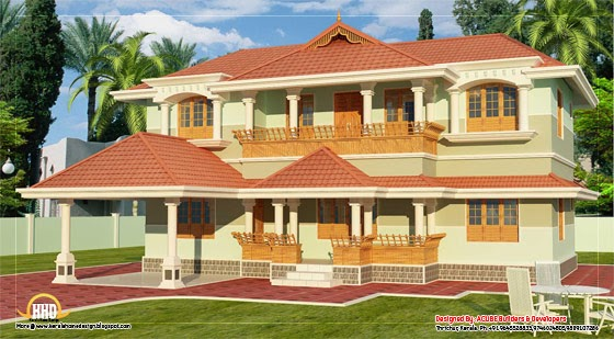 Kerala Style 2 Story Home Design 2346 Sq Ft Indian