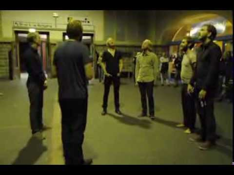 Band Performs Ancient 13th Century Icelandic Hymn In A German Train Station