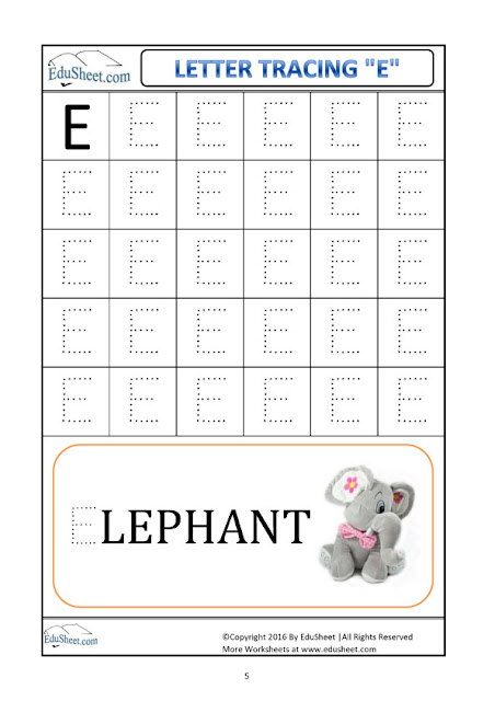 Number Names Worksheets : trace letters a-z ~ Free Printable ...