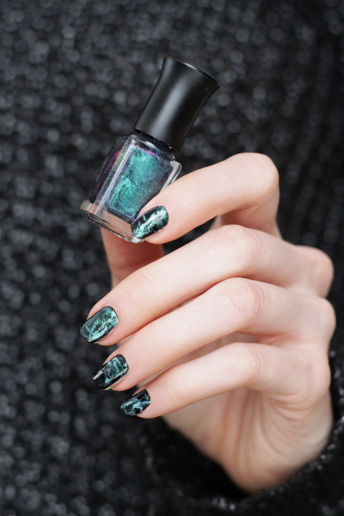 Schwarz Marmor Nägel Beautyblog