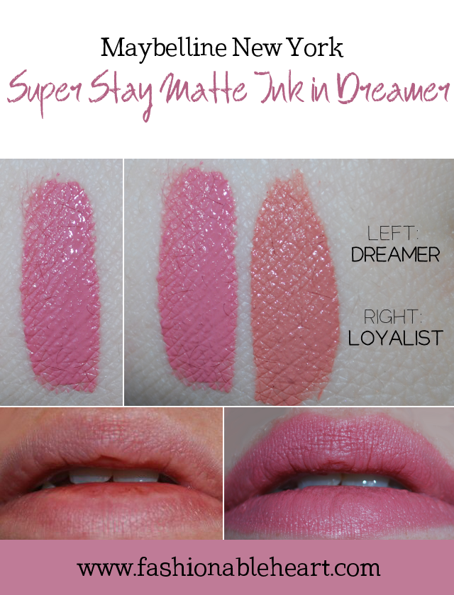 bblogger, bbloggers, bbloggerca, canadian beauty blogger, beauty blog, southern blogger, maybelline, maybelline new york, superstay, matte ink, liquid lipstick, dreamer, loyalist, review, swatch, hand swatch, lip swatch, long lasting, formula, drugstore makeup, super stay, product review