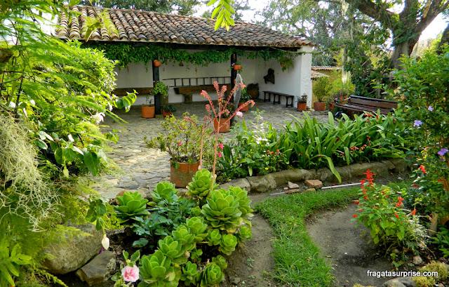 Jardins da Casa Museu Antonio Ricaurte, Villa de Leyva, Colômbia