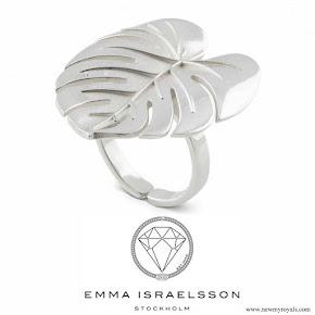 Princess Sofia jewel Emma Israelsson Palm Leaf Ring in Silver