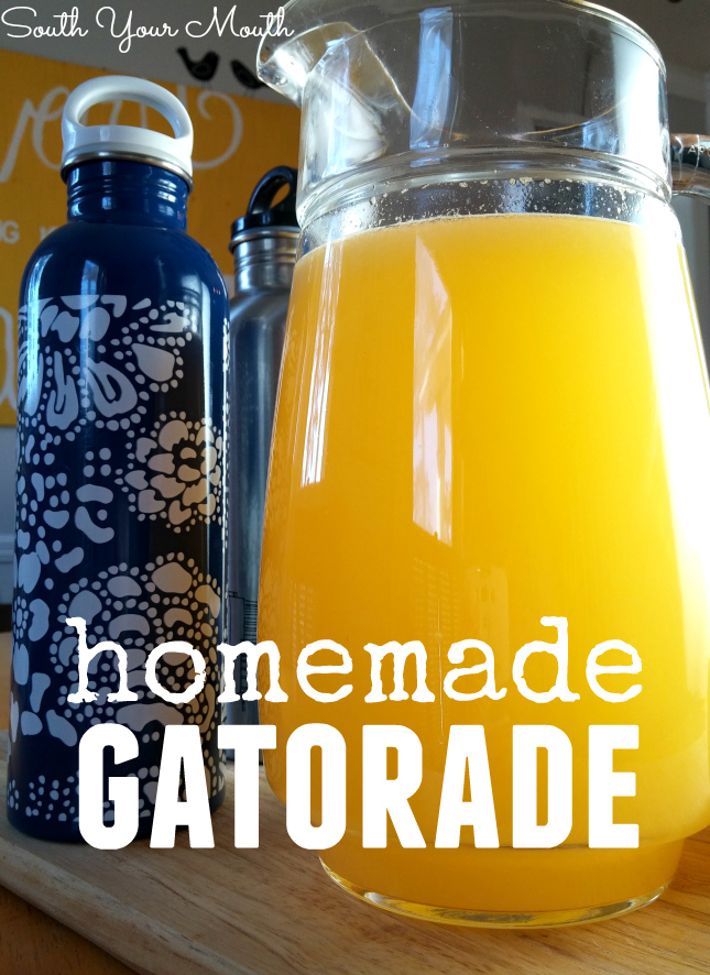Homemade Gatorade sports drink made with just a few simple ingredients. Recipes for orange, cranberry, lemon-lime and ruby red grapefruit sports drink!
