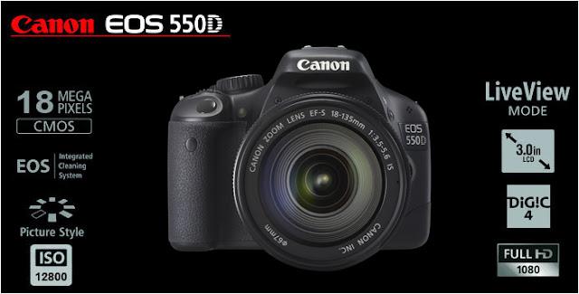 Spesifikasi dan Harga Kamera Canon EOS 550D