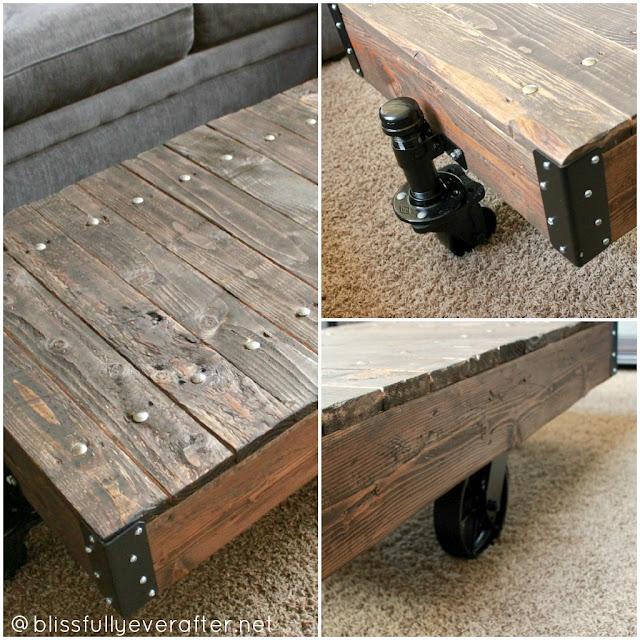 DIY Factory Cart Coffee Table {Restoration Hardware ...