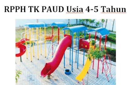 RPPH TK PAUD Usia 4-5 Tahun Kurikulum 2013