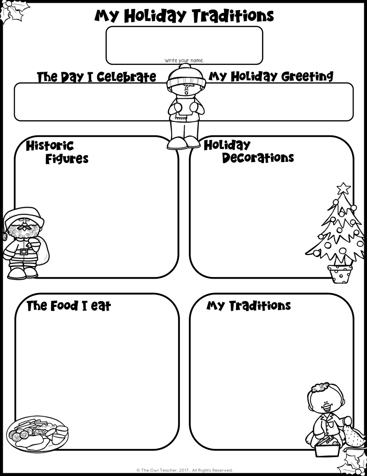 Holiday Traditions Writing And Organizer