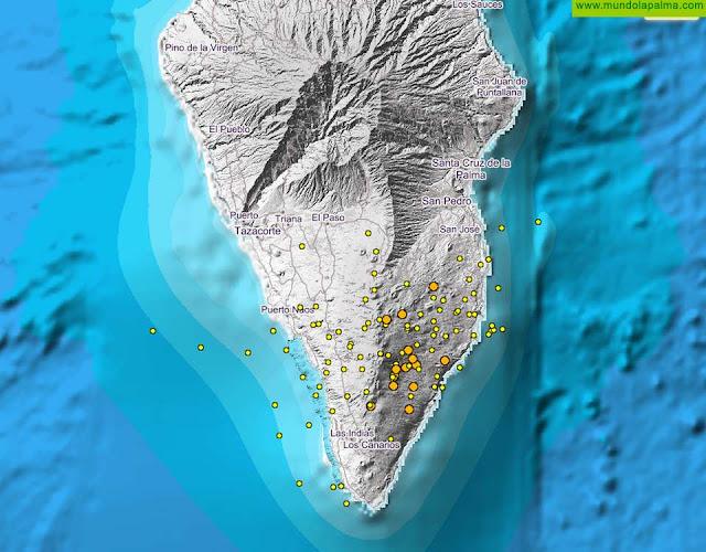 Continúa el enjambre sísmico bajo Cumbre Vieja