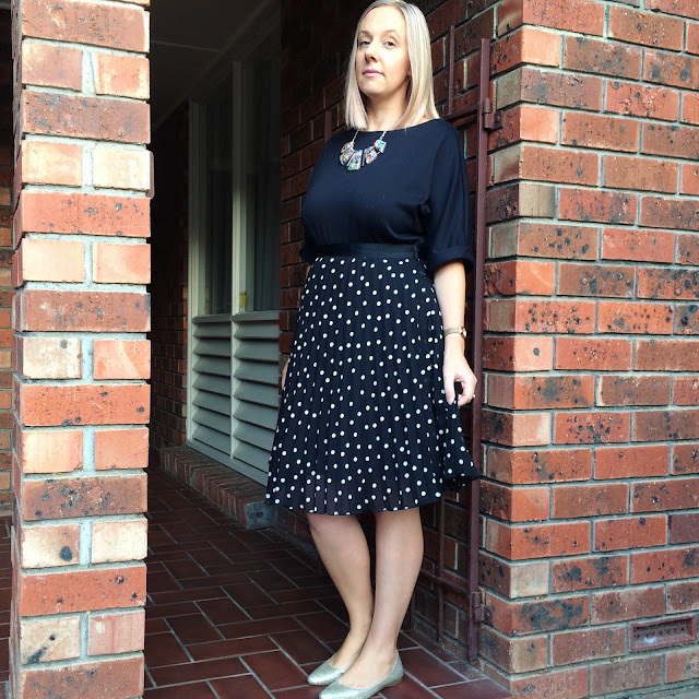 Dress and spotty skirt | Almost Posh
