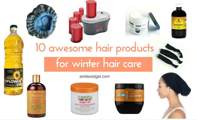 Awesome hair products for winter hair care | arelaxedgal.com
