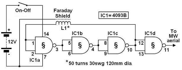 electronic circuit diagram: BFO METAL DETECTOR