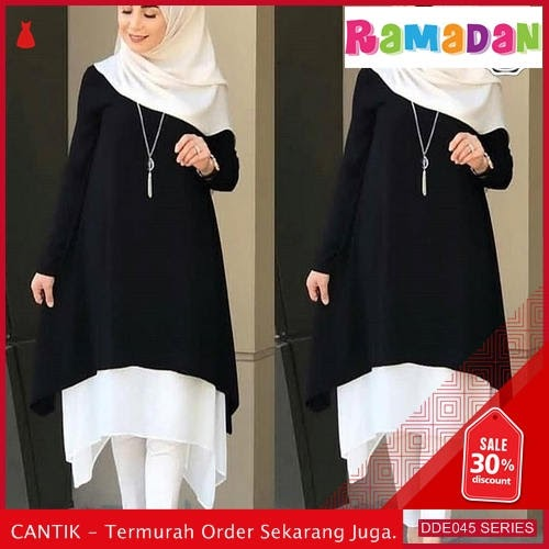 DDE045H56 Hot Produk Dress Disy Lebaran Black 2019 Ro BMGShop