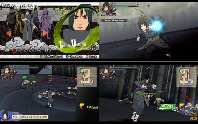Naruto Shippuden : Ultimate Ninja Impact MOD Texture Sasuke Hebi [Izuna Uchiha] For PPSSPP Terbaru