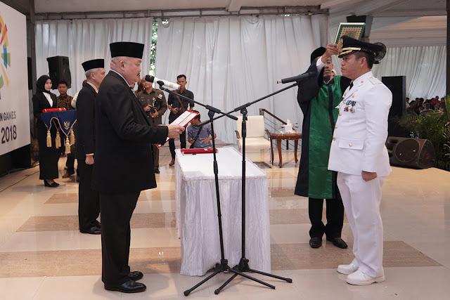 Gubernur Lantik Richard Cahyadi Penjabat Walikota Prabumulih