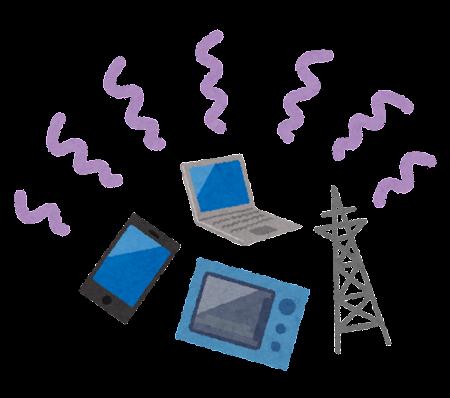 電磁波のイラスト