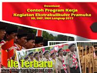 Download Contoh Program Kerja Kegiatan Ekstrakulikuler Pramuka SD, SMP, SMA Lengkap 2017