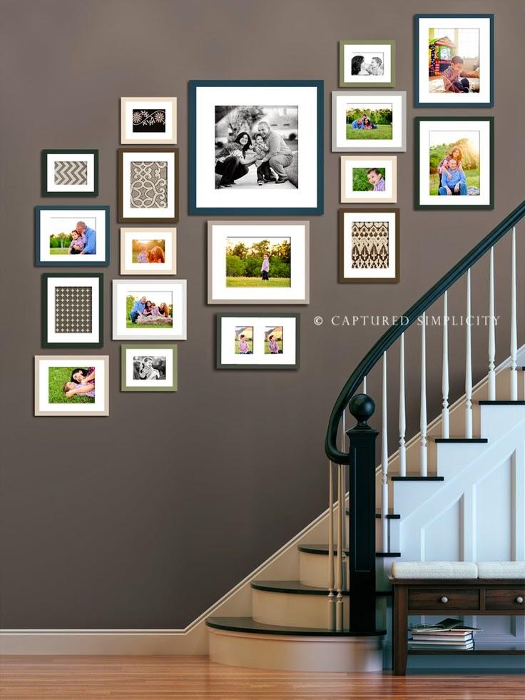 50 Creative Staircase Wall decorating ideas, art frames ... on Creative Wall Design Ideas  id=67919
