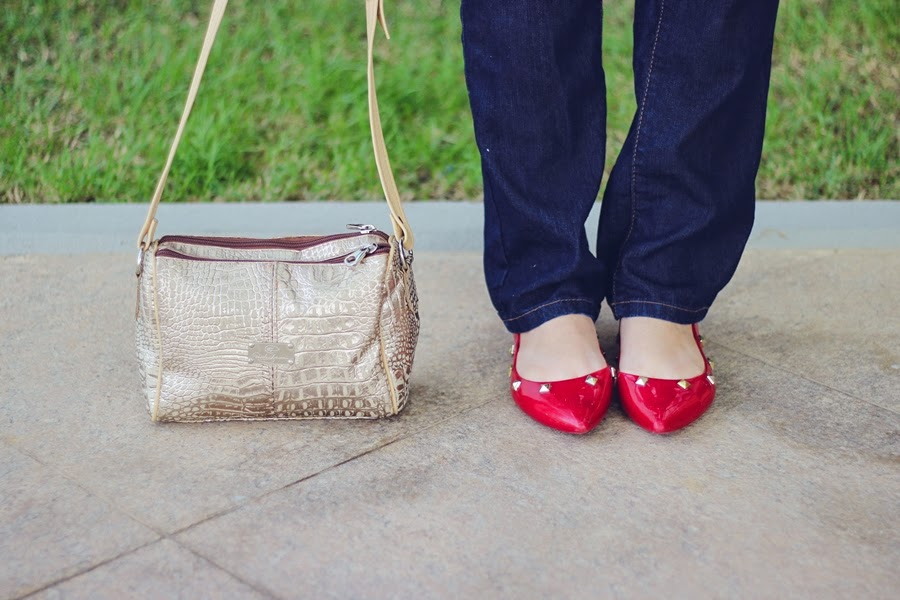 sapatilha vermelha