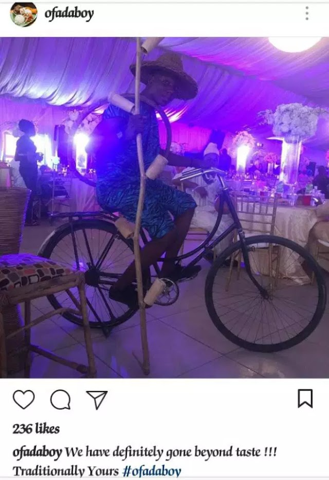 (Photos) Garri and fried fish served at wedding reception in Lagos