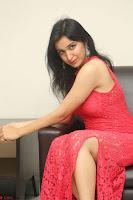 Sakshi Kakkar in Red Legsplit Sleeveless Gown at Dare movie Press meet ~  Exclusive 052.JPG