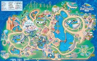 SeaWorld Orlando Florida Mapa