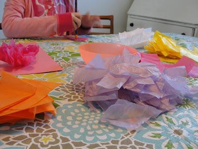 Tissue Paper piles