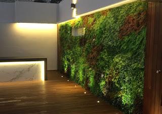 jardín vertical artificial para exterior
