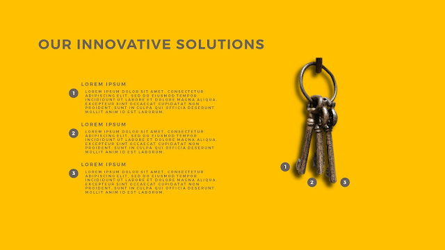 Innovative Solutions of 3 Keys Infographics Free PowerPoint Template