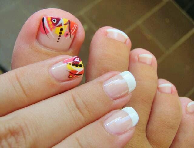 Diseño y decoración de uñas-unhas-nails para tus pies 2016