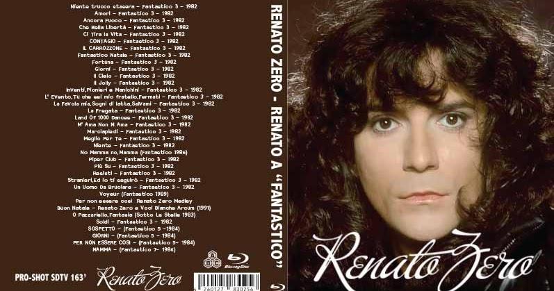 Buon Natale Renato Zero.Bluray Live Concert Renato Zero Fantastico