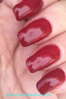 Luscious Red, swatch, manicure