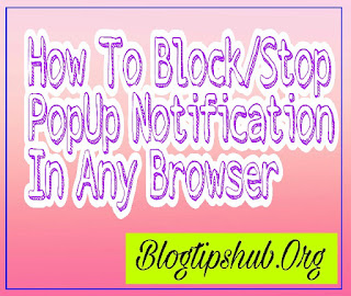 how to block popup notification in browsers