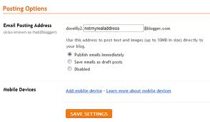 Mobile Phone Blogging Option