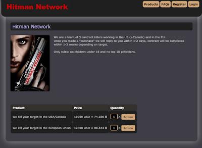 Hitman service Deep Web