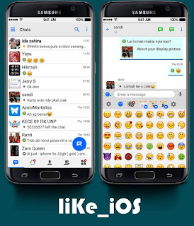 BBM Like IOS Emojichange Unclone  v3.0.1.25 Apk Terbaru
