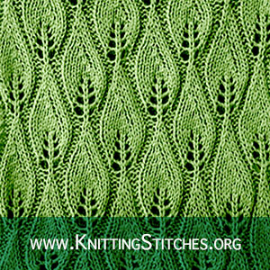 KNITTING PATTERN - Candle Flame stitch pattern. #knittingpattern #stitchpattern