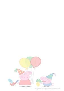 Hoja con peppa pig de cumpleaños